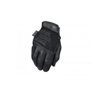 Mechanix Wear Tactical Specialty Recon Gloves, Touchscreen Capable, Covert Black, Leather, Medium Tsre-55-009