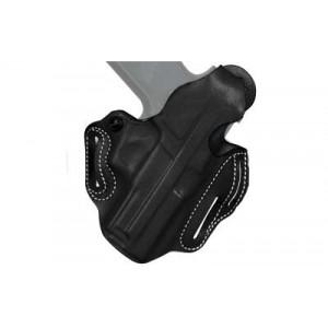 """Desantis Gunhide 1 Thumb Break Scabbard Right-Hand Belt Holster for 1911 Commander in Black Leather (4.25"""") -"""