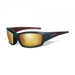 Wiley X - Tide Lens Color: Polarized Venice Gold Mirror - Matte Hickory Brown