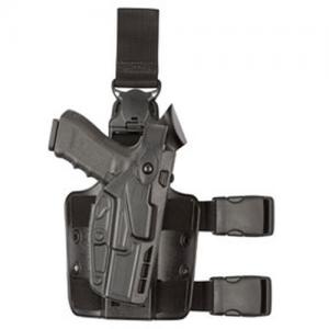 7305 7TS ALS/SLS Tactical Holster w/ Quick Release Finish: STX Plain Gun Fit: Glock 17 w/ITI  M3 Light (4.5  bbl) Hand: Right - 7305-832-411