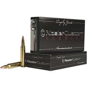 Nosler Bullets Custom Trophy Grade Varmint .223 Remington/5.56 NATO Ballistic Tip Lead-Free, 40 Grain (20 Rounds) - 60007