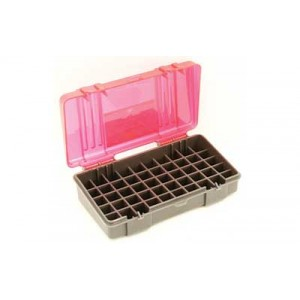 Plano Ammunition Box, Holds 50 Rounds Of .45acp/.40 S&w/10mm Handgun Rounds, Charcoal/rose , 6 Pack 1227-50