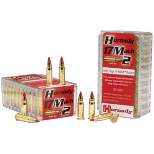 Hornady 17 Mach 2 17 Grain V-Max, 50 Round Box - ONLY A FEW - HURRY - 83177