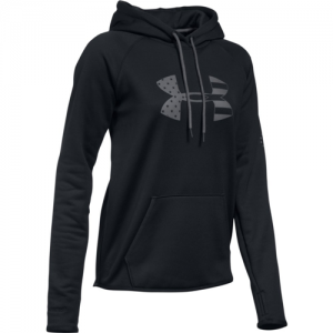 Under Armour Big Logo Women's Pullover Hoodie in Black - X-Large