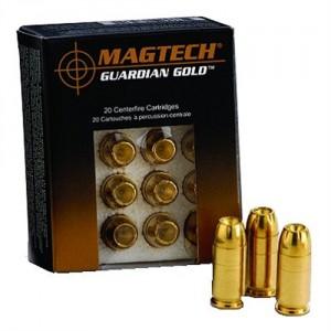 Magtech Ammunition Guardian Gold 9mm Jacketed Hollow Point, 115 Grain (20 Rounds) - GG9A