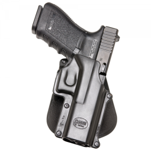 Fobus USA Belt Right-Hand Belt Holster for Glock 20, 21, 37 in Black Smooth Plastic - GL3BH