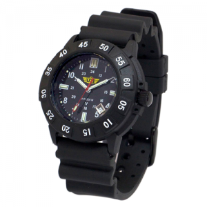 Protector Watch - Tritium, Black Face, Rubber Strap
