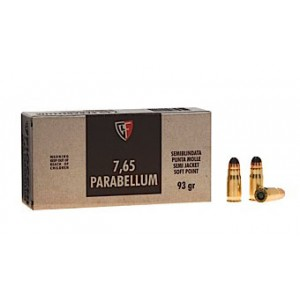 Fiocchi Ammunition .30 Luger Jacketed Soft Point, 93 Grain (50 Rounds) - 765B