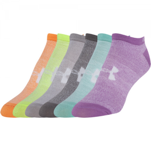 UA Women's Liner 6-Pack No Show Color: Marl/Assorted Size: 9-11