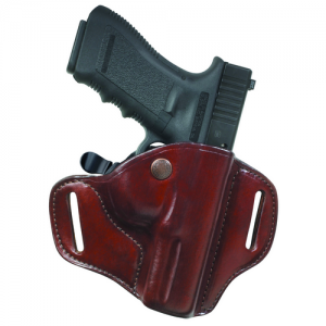 Carrylok Auto Retention Leather Holster Gun FIt: 14C / KIMBER / Ultra Carry II Hand: Right Hand Color: Black / Plain - 23286