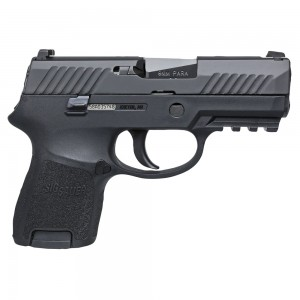 "Sig Sauer P320 SubCompact 9mm 12+1 3.6"" Pistol in Black Nitron (SIGLITE Night Sights) - 320SCR9BSS"