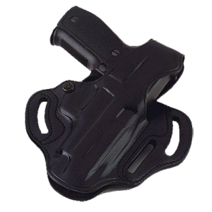"""Galco International Cop 3-Slot Right-Hand Belt Holster for Glock 26, 27, 33 in Black (1.75"""") - CTS286B"""