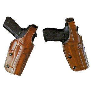 """Galco International Dual Position Pheonix Right-Hand Belt Holster for Smith & Wesson L-Frame in Tan (4"""") - PHX104"""