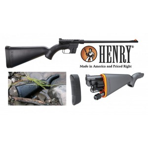 """Henry Repeating Arms U.S Survival AR-7 .22 Long Rifle 8-Round 16.5"""" Semi-Automatic Rifle in Teflon Coated Black - H002B"""