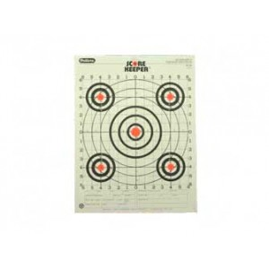 Champion Traps & Targets Orange Bullseye Scorekeeper Target, 100 Yard Rifle Sight-in, 12 Pack 45726