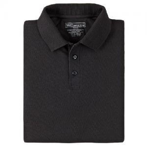 5.11 Tactical Utility Men's Short Sleeve Polo in Black - Medium