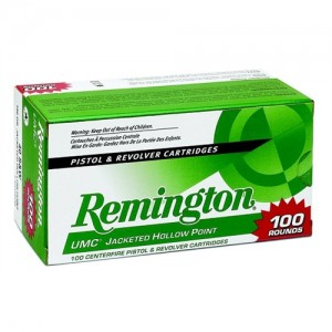 Remington UMC .380 ACP Jacketed Hollow Point, 88 Grain (100 Rounds) - L380A1B