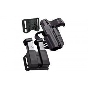 Blade Tech Industries Idpa Competition Shooters Pack, Owb Holster With Adjustable String Ray Loop & Paddle, Revolution Double Magazine Pouch, Fits Glock 19/23/32, Right Hand, Black Holx0086idpapko0082blkrh - HOLX0086IDPAPKO0082BLK