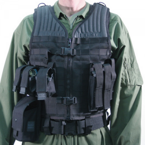 STRIKE Omega Vest  S.T.R.I.K.E. Omega Vest, Black, Made of heavy-duty nylon mesh for maximum breathability, Adjustable for length and girth; up to 6 length, addl 32 girth, Lace style girth adjustment, Emergency cut away shoulder strap system and robust dr