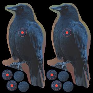 "Birchwood Casey 34787 Shoot-N-C Reactive 12 8"" Crow Illustration"