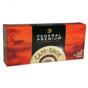 Federal Cartridge Cape-Shok Dangerous Game .470 Nitro Express Trophy Bonded Bear Claw, 500 Grain (20 Rounds) - P470T1