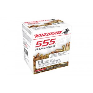 Winchester .22 Long Rifle Hollow Point, 36 Grain (555 Rounds) - 22LR555HP
