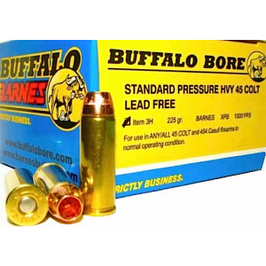 Buffalo Bore Ammunition .45 Long Colt Barnes XPB, 225 Grain (20 Rounds) - 3H/20