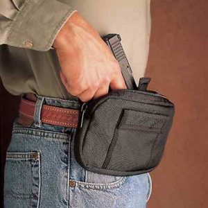 Desantis Gunhide The Gun Caddie Ambidextrous-Hand Bags & Pouches Holster for Small Autos in Black - N58BJZZZ0