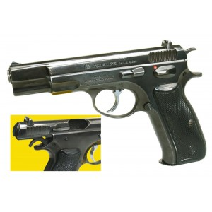 """Pre-Owned CZ - Imported by LSY Defense 75 9mm 15+1 4.75"""" Pistol in Stainless - CZ75-SYBB-PO"""