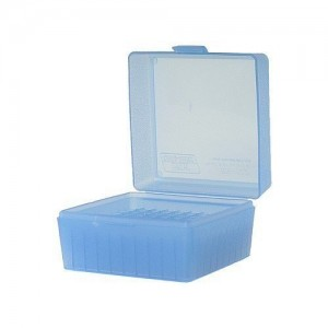 MTM 100 Round Blue Medium Rifle 243/308 Caliber Ammo Box RM10024