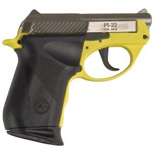 "Taurus M22 .22 Long Rifle 8+1 2.33"" Pistol in Stainless/Yellow - 122039PLYF"