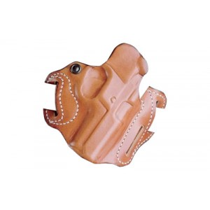 """Desantis Gunhide 2 Speed Scabbard Right-Hand Belt Holster for Smith & Wesson M&P Shield in Tan Leather (4"""") - 002TAX7Z0"""