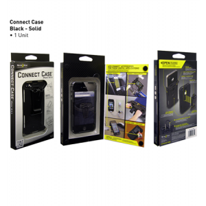 Connect Case Color: Black Solid Phone Model: iPhone 4/4S
