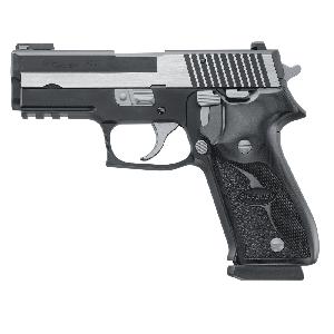 "Sig Sauer P220 Full Size Equinox CA Compliant .45 ACP 8+1 4.4"" Pistol in Two Tone Black Nitron (Blackwood Grip) - 220R45EQCA"