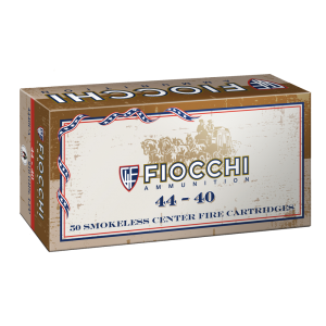 Fiocchi Ammunition .44-40 Winchester Lead Round Nose Flat Point, 210 Grain (50 Rounds) - 4440CA