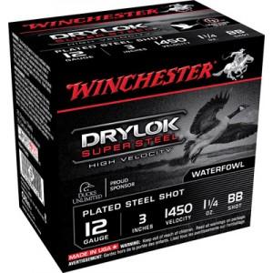 "Winchester Supreme Hi Velocity Waterfowl .12 Gauge (3"") BB Shot Steel (250-Rounds) - SSH123BB"