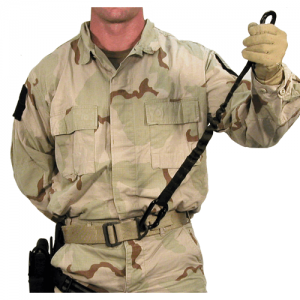 Personnel Retention Lanyard  Personnel Retention Lanyard Olive Drab The BLACKHAWK! PRL is designed to act as a personal lanyard when operating from helos, ships or at dangerous heights. Attach locking carabiners to each end. One side clips to your CQB bel