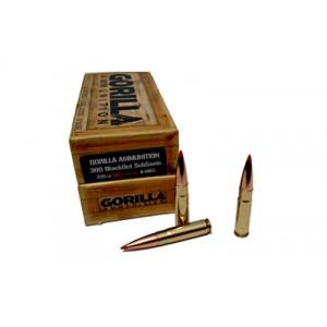 Gorilla Ammunition Company LLC Gorilla Ammunition .300 AAC Blackout AMAX, 208 Grain (20 Rounds) - GA300208AMAXSUB