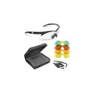 Radians Shift Interchange Glasses, Black Frame, Clear, Copper, Amber, Orange, Green Mirror Lenses, 5 Piece Interchangeable Lenses Case Sh500cs