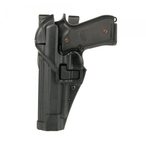 "Blackhawk Level 3 Serpa Right-Hand Belt Holster for Smith & Wesson 5946 in Matte Black (4"") - 44H110BK-R"