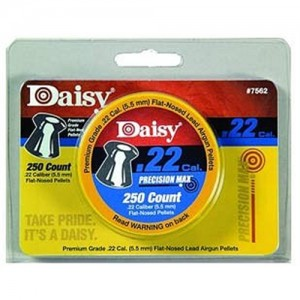 Daisy 250 Count .22 Cal. Flat Nose Pellets 7562