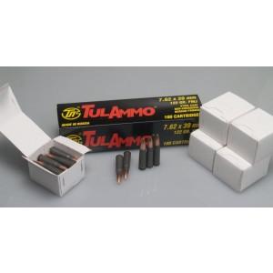 TulAmmo 7.62X39 Full Metal Jacket, 122 Grain (100 Rounds) - UL076210
