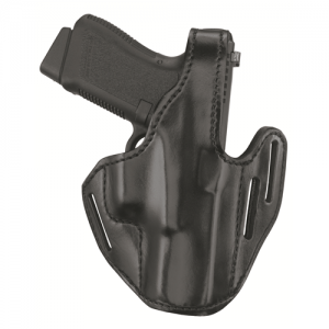 Three-Slot Pancake Holster  Three-Slot Pancake Holster Black Finish Fits many small-frame double-action revolvers with outside hammers and 1.88 in. to 2.25 in. bbl incl.;COLT Agent, Cobra, Detective Special, DSII, SFVI, Lady Special, Lawman; S&W 31, 34, 3