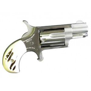 """North American Arms Mini-Revolver .22 Long Rifle 5-Shot 1.125"""" Revolver in Fired Case/Stainless - NAA-22LRGSTG"""