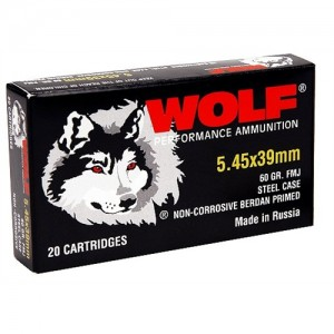 Wolf Performance Ammo Performance 5.45X39 Hollow Point, 60 Grain (750 Rounds) - 545BHP