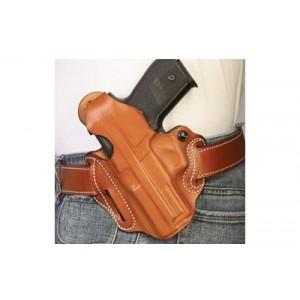Desantis Gunhide 1 Thumb Break Scabbard Left-Hand Belt Holster for Glock 19, 23 in Black Basketweave Leather - 001BBB6Z0