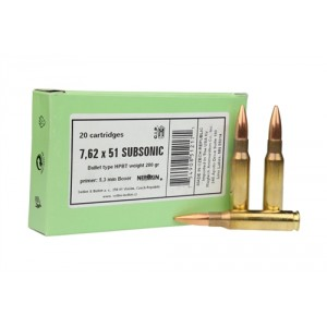 Sellier & Bellot .308 Winchester/7.62 NATO Boat Tail Hollow Point, 200 Grain (20 Rounds) - SB308SUB