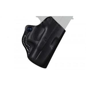 Desantis Gunhide 19 Mini Scabbard Right-Hand Belt Holster for Beretta Nano in Black Leather (W/ Crimson Trace) - 019BAW4Z0