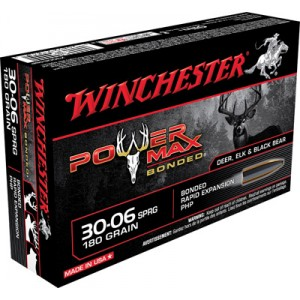 Winchester Super-X .30-06 Springfield Power Max Bonded, 180 Grain (20 Rounds) - X30064BP
