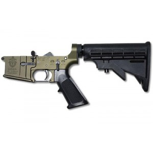 Us Autoweapons Lower, Special Forces, Semi-automatic, 223 Rem/556nato, 6 Position Stock, Od Green Finish, Certified Special Forces Logo Usm456sfod